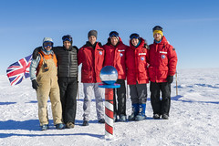 The 2016-2017 South Pole Ice Core Field Team. Pictured from left to right: Joe Souney, Murat Aydin, Ryan Bay, Jay Johnson, Emma Kahle, Josh Goetz.