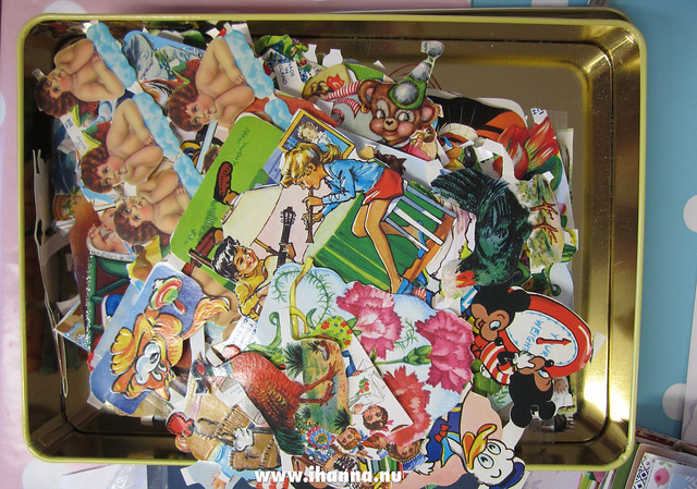 Box of vintage Scrap Die Cut