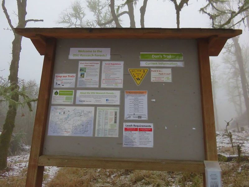 Infromational signboard for McDonald-Dunn Research Forest