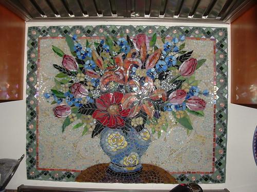 Mosaic Backsplash Kitchen Amazon Above Cook Top