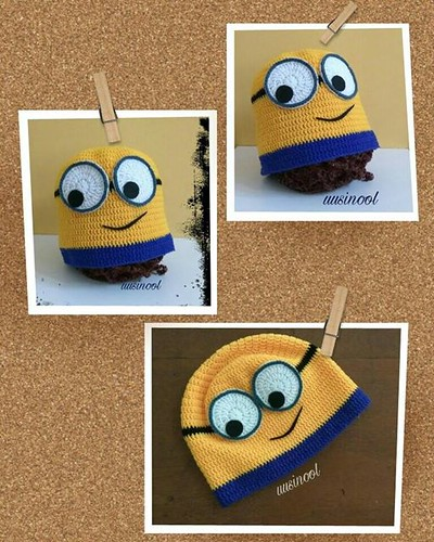 crochet minion cap