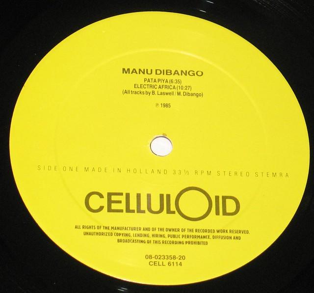 """Manu Dibango Electric Africa Afro Jazz 12"""" vinyl LP"""