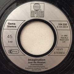 IMAGINATION:JUST AN ILLUSION(LABEL SIDE-B)