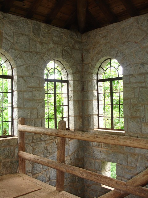 Inside Observation Building, Rock Eagle Mound, Putnam County GA