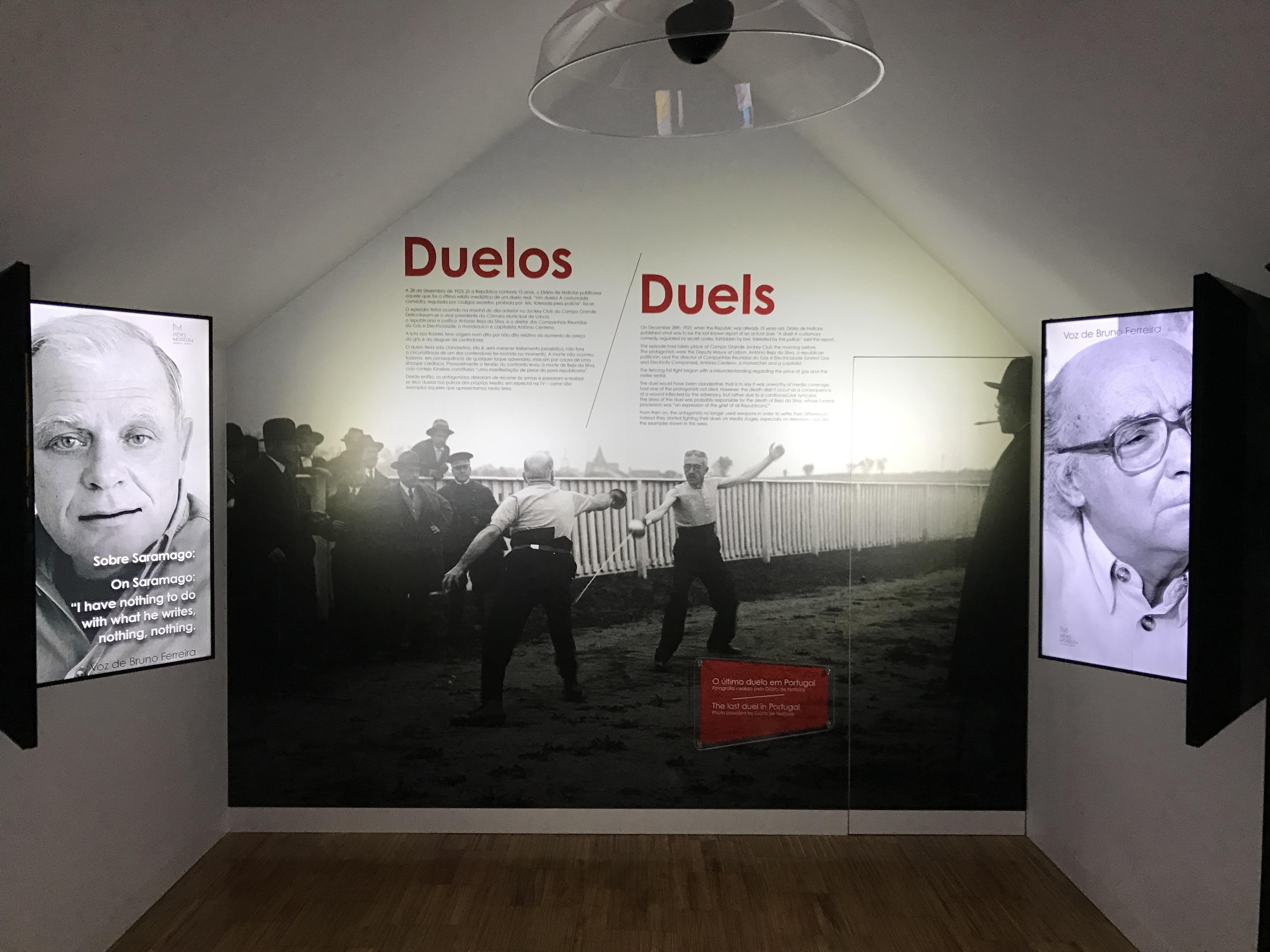 Sala dos duelos, Museu das Notícias, Sintra