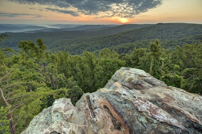 Sunrise, Rocking Rock, White County, Tennessee 2
