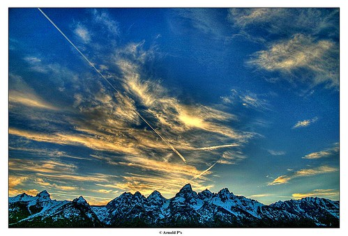 Sunset over the Tetons - HDR | by Arnold Pouteau's