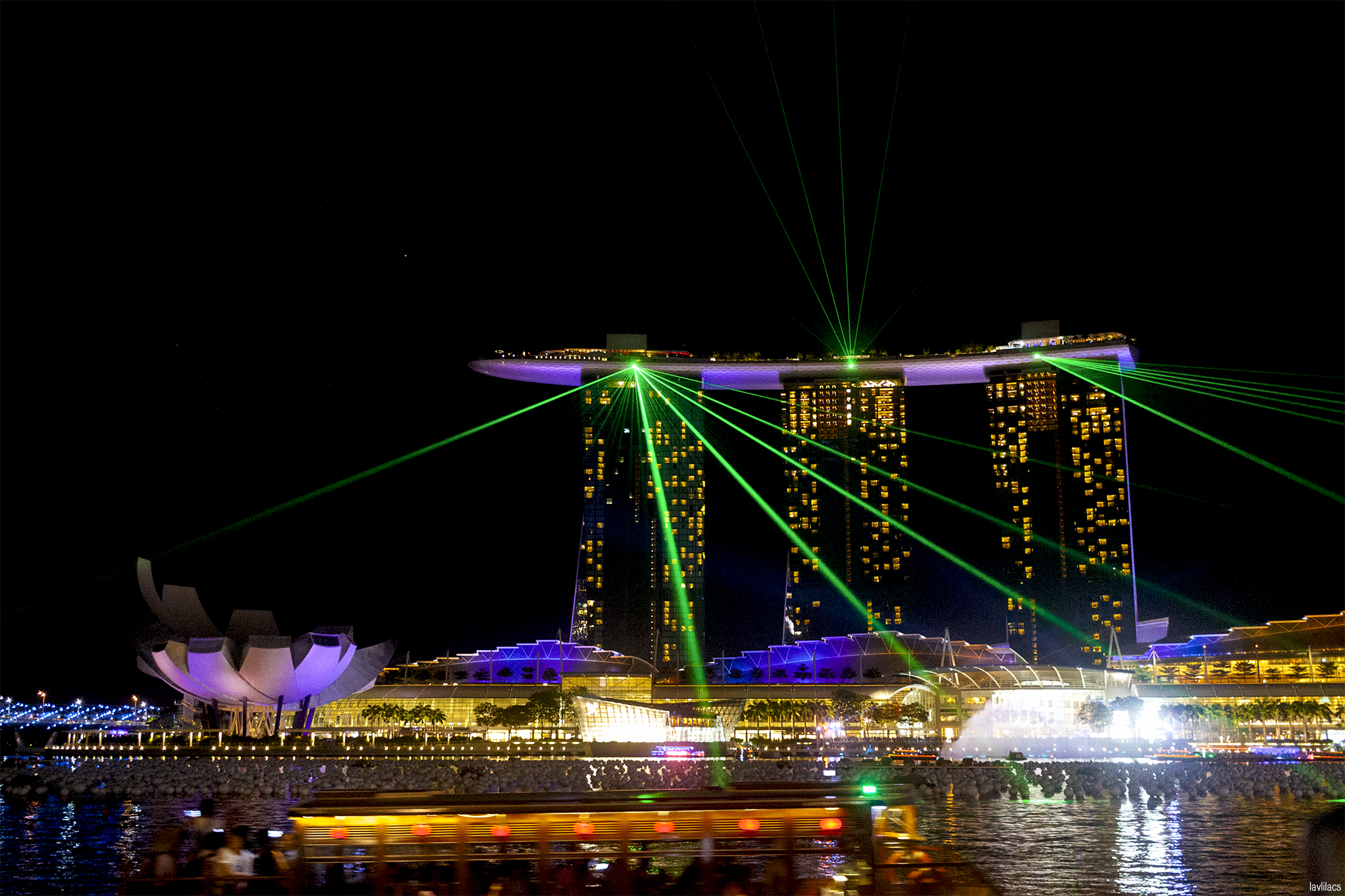lavlilacs Singapore Marina Bay Sands night lights show