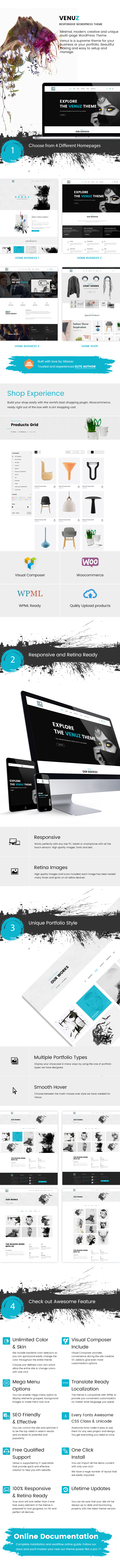 Venuz - Responsive WordPress Theme