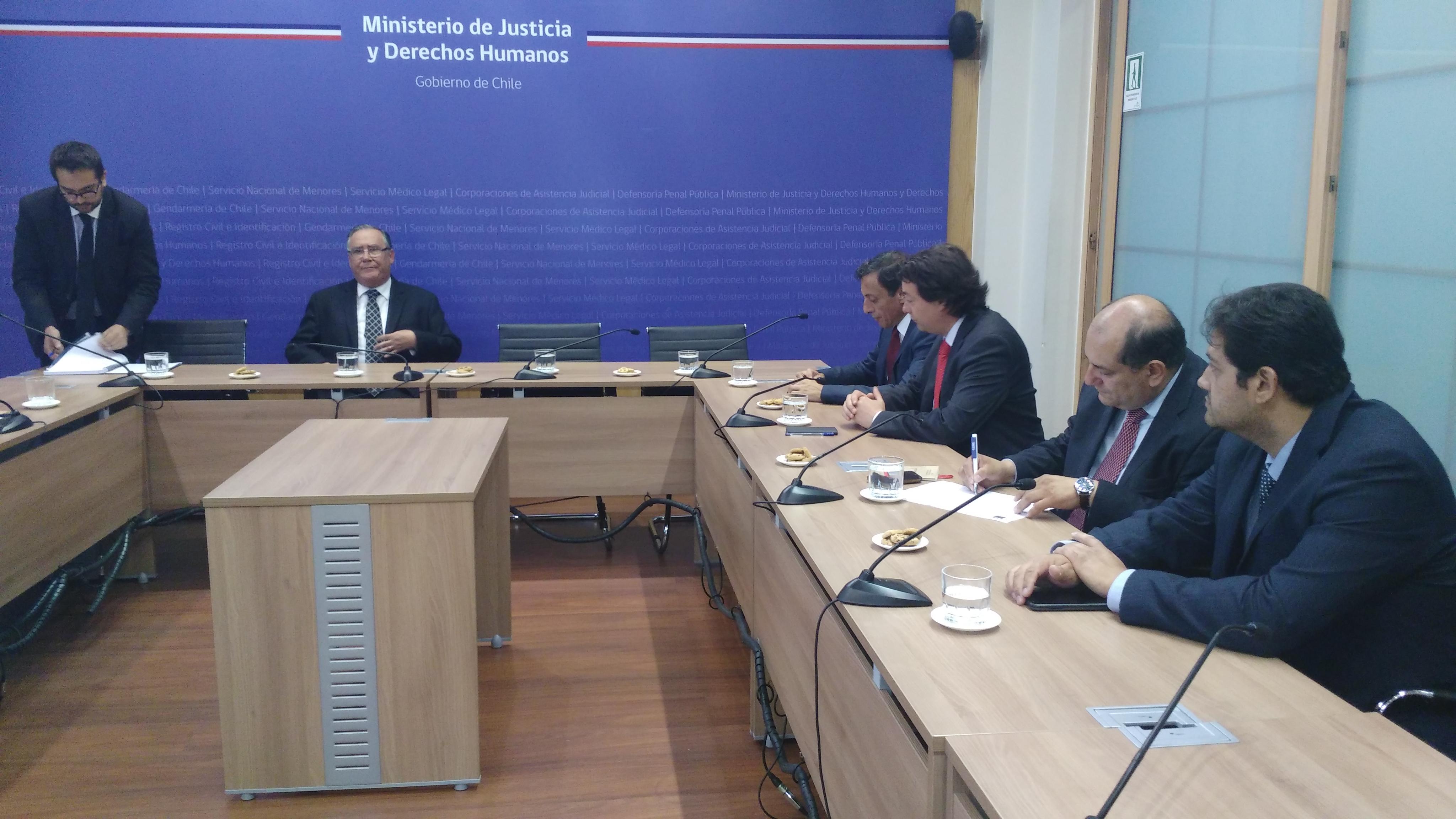Reunión con Ministro y Subsecretario de Justicia - 27 Diciembre 2016