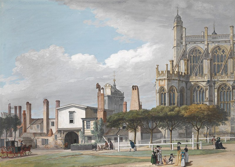 Paul Sandby - St. George's Chapel, Windsor, and the Entrance to the Singing Men's Cloister (1765)