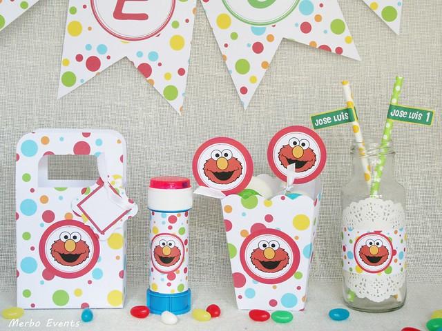 Cumpleaños Plaza Sésamo. Elmo y sus amigos. Merbo Events