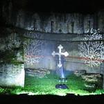 Illuminate York 2016 - Cross on wall