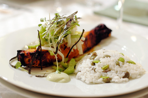 Miso-Marinated Salmon with Cucumber-Daikon Relish and Wasa ...