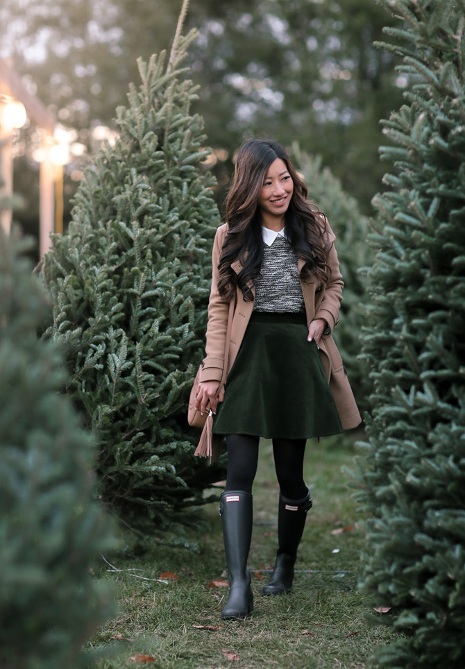 christmas tree farm boston winter outfit ideas