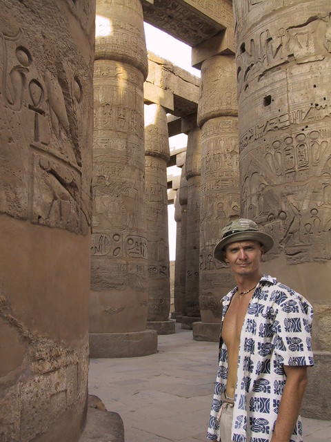 Hubbers at Temple of Karnak, Egypt