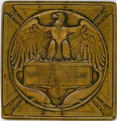 """1904 SAINT LOUIS WORLD'S FAIR """"SILVER"""" MEDAL reverse"""
