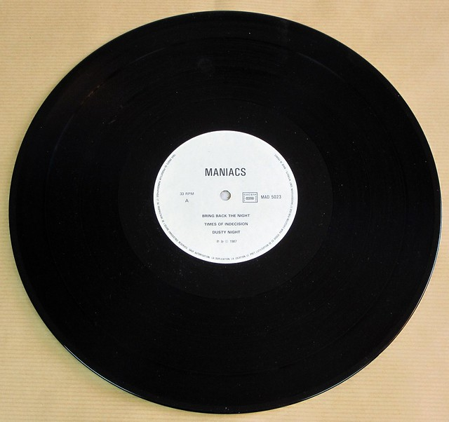 "MANIACS SELF-TITLED WHITE LABEL FRANCE 12"" LP VINYL"