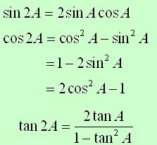 Sum, Difference, Double, Half Angle Formulae-2