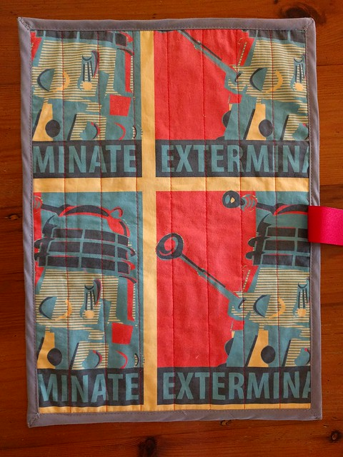 A Dalek print knitting roll.