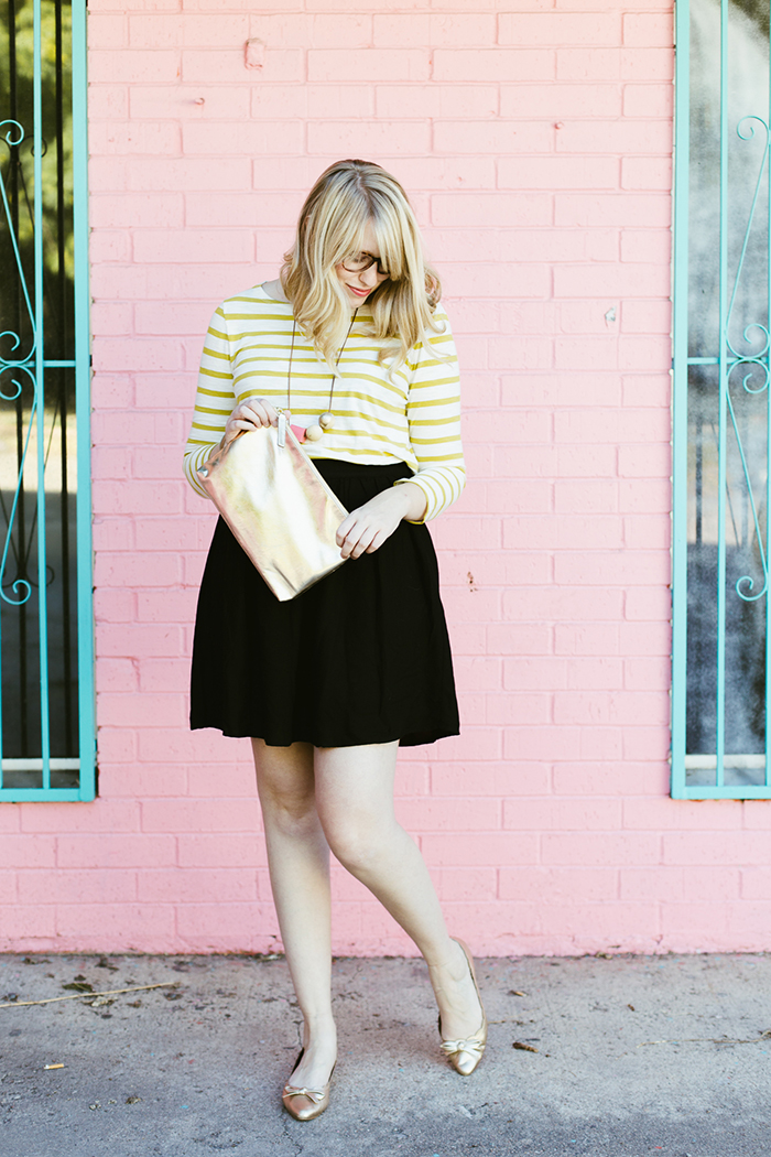 yellowstripedskirtpinkwall-7
