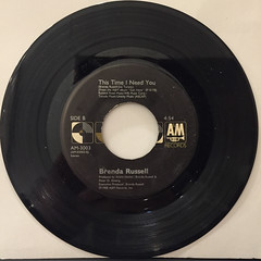 BRENDA RUSSELL:PIANO IN THE DARK(CRY JUST A LITTLE)(RECORD SIDE-B)