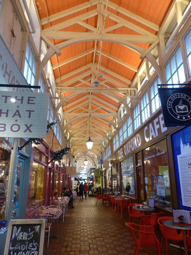 The covered market in Oxford.