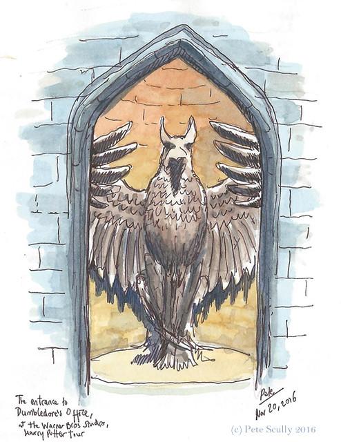 Hogwarts Griffin Stairwell, WB Studios, England