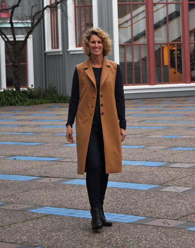 Alice with coat