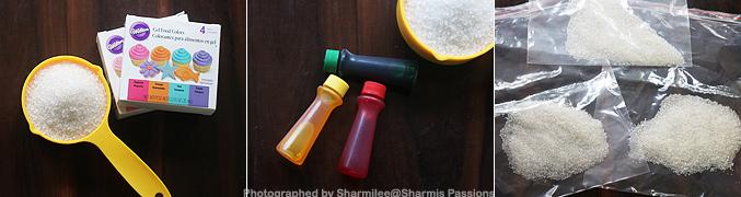 How to make Homemade Sugar Sprinkles - Step1