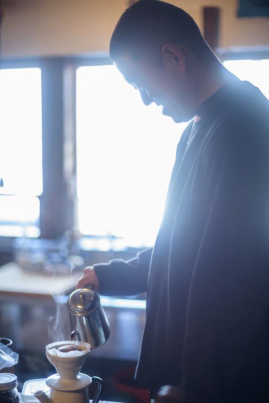 A man who makes coffee