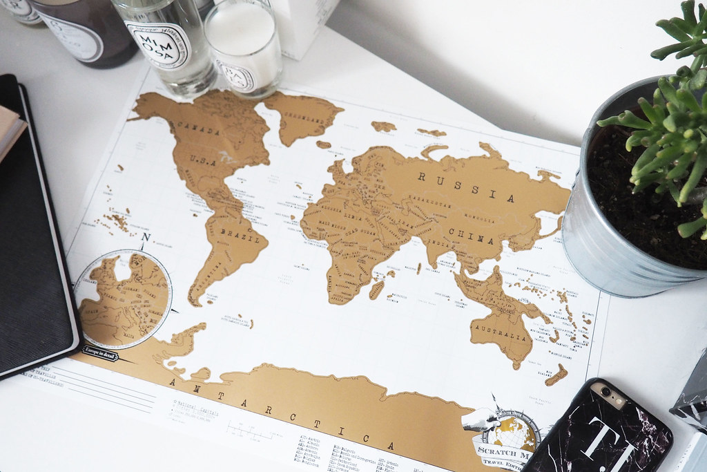travel planning scratch map