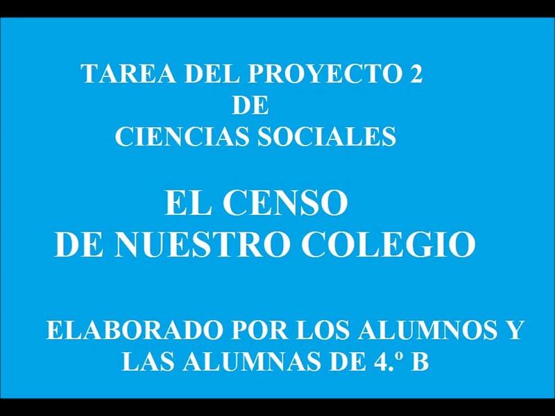 Tarea Proyecto 2  C.Sociales 4.ºB