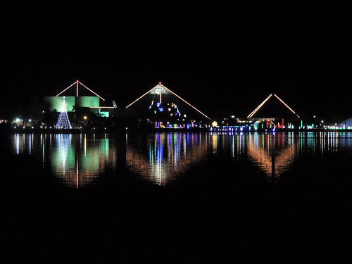 Reflective Moody Gardens Festival Of Lights Flickr Photo Sharing