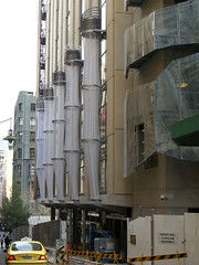 Cooling Shower Towers - Council House 2, Melbourne | by avlxyz