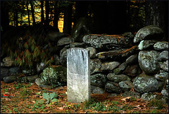 Grave by stone wall, Vermont | by colorstalker