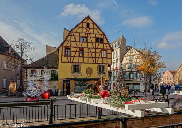 Decoración navideña en Colmar