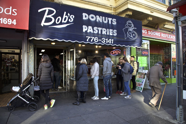 Lining up for Bob's