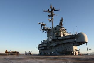 USS Hornet (CV-12) island