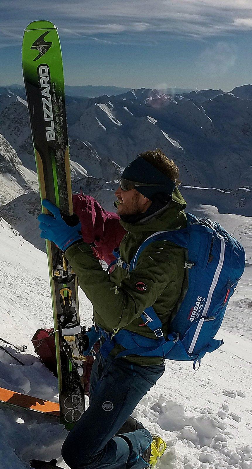 Schaufelspitze (3.333m), Stubaier Gletscher, 30.11.2016