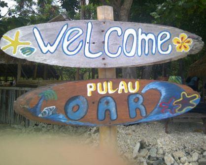 welcome pulau oar