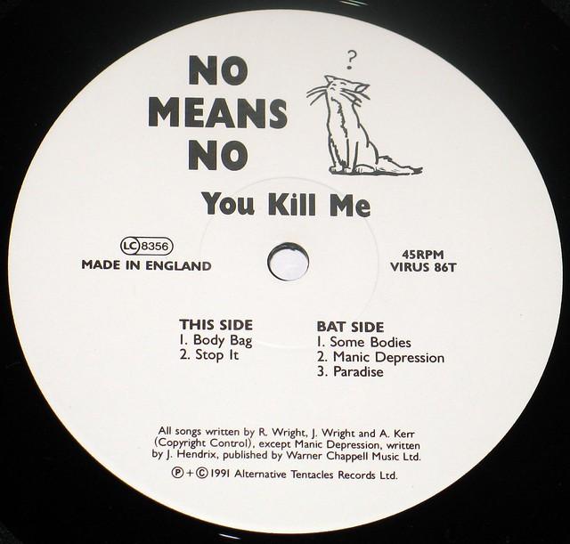 "NOMEANSNO You Kill Me 12"" vinyl LP"