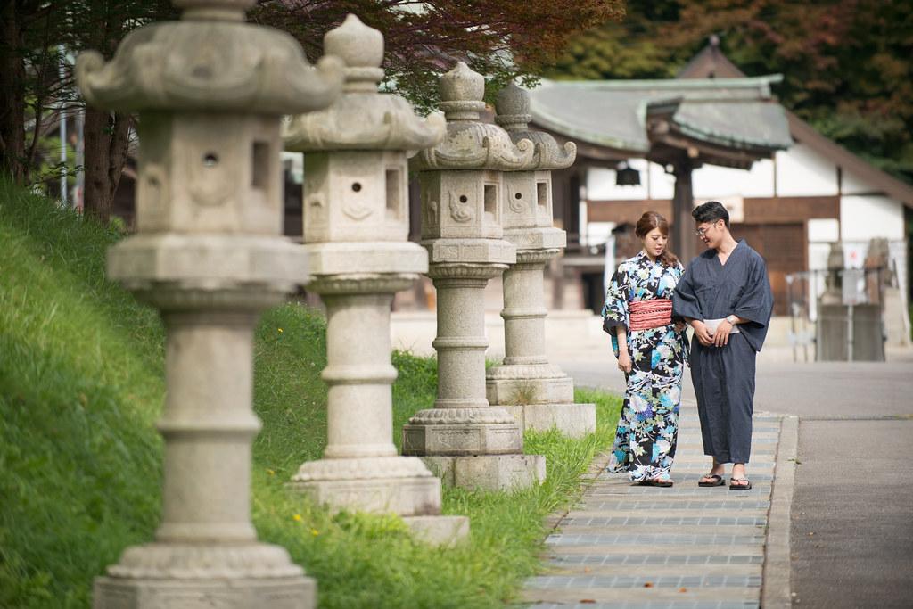 函館八幡宮婚紗,北海道婚紗,和服婚紗,楓葉婚紗
