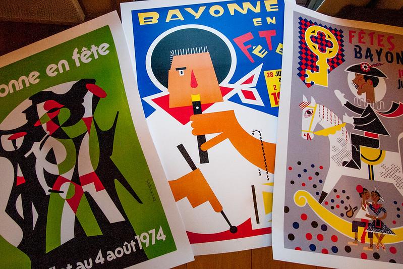"""affiches """"Fêtes de Bayonne"""""""