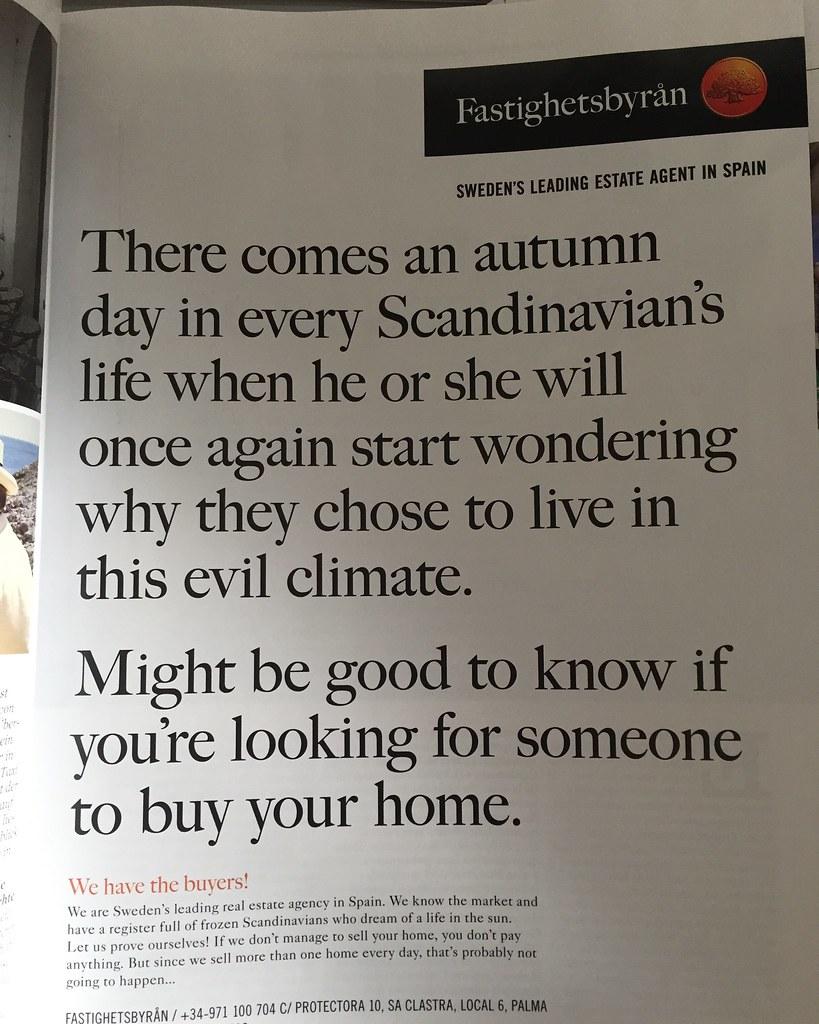 Fastighetsbyrån reklam - this evil climate