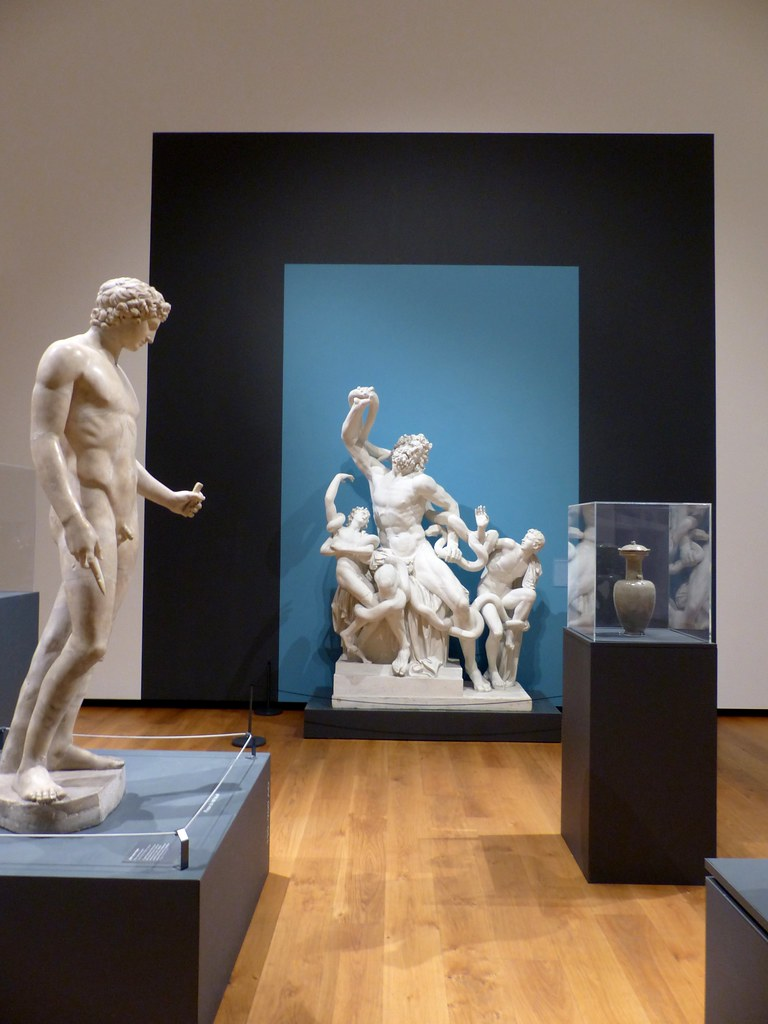 this is a picture of sculpture inside The Ashmolean Museum