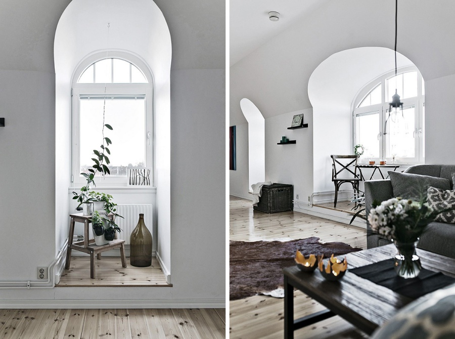 Scandinavian Home With Touches of Green