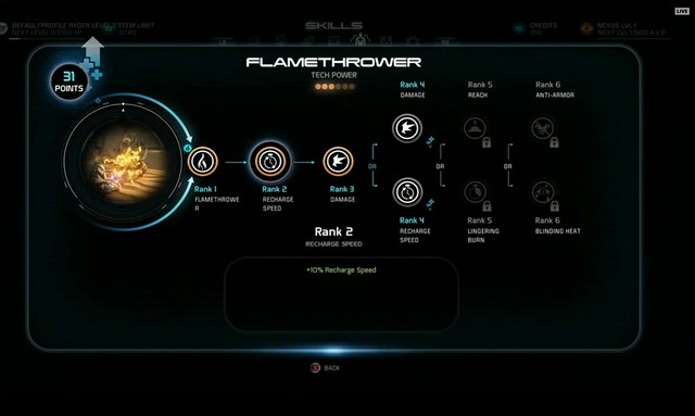 Mass Effect: Andromeda - Flamethrower Upgrade