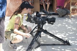 Rodaje del Documental La mirada de Enea, realizado con metodologías de audioviosual participativo