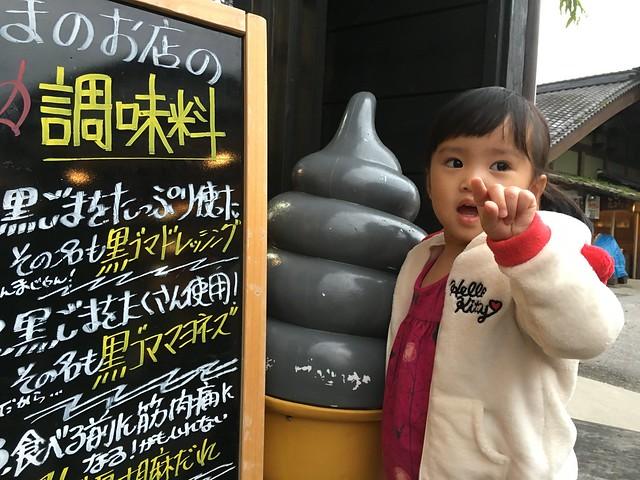 黑芝麻口味霜淇淋